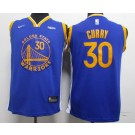 Youth Golden State Warriors #30 Stephen Curry Blue 2019 Icon Sponsor Swingman Jersey