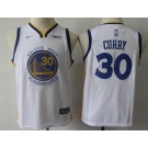 Youth Golden State Warriors #30 Stephen Curry White Icon Sponsor Swingman Jersey