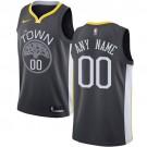 Youth Golden State Warriors Customized Black Icon Swingman Nike Jersey