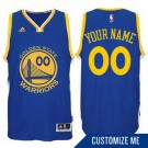 Youth Golden State Warriors Customized Blue Swingman Adidas Jersey