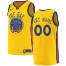 Youth Golden State Warriors Customized Yellow City Icon Swingman Nike Jersey