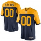 Youth Green Bay Packers Customized Game Navy Yellow Jersey