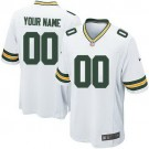 Youth Green Bay Packers Customized Game White Jersey