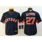 Youth Houston Astros #27 Jose Altuve Navy 2020 Cool Base Jersey