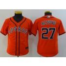 Youth Houston Astros #27 Jose Altuve Orange 2020 Cool Base Jersey