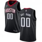 Youth Houston Rockets Customized Black Icon Swingman Nike Jersey