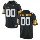 Youth Iowa Hawkeyes Customized Black College Football Jersey