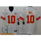 Youth Kansas City Chiefs #10 Tyreek Hill Limited White 2021 Super Bowl LV Bound Vapor Untouchable Jersey