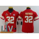 Youth Kansas City Chiefs #32 Tyrann Mathieu Limited Red 2021 Super Bowl LV Bound Vapor Untouchable Jersey