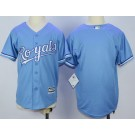 Youth Kansas City Royals Blank Light Blue Cool Base Jersey