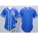 Youth Kansas City Royals Blank Royal Blue Cool Base Jersey