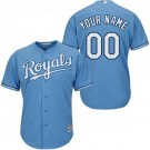 Youth Kansas City Royals Customized Light Blue Cool Base Jersey
