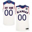 Youth Kansas Jayhawks Customized White College Basketball Jersey