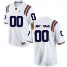 Youth LSU Tigers Customized White College Football Jersey