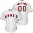 Youth Los Angeles Angels Customized White Cool Base Jersey
