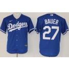 Youth Los Angeles Dodgers #27 Trevor Bauer Blue Cool Base Jersey