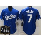 Youth Los Angeles Dodgers #7 Julio Urias Blue 2020 World Series Cool Base Jersey