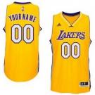 Youth Los Angeles Lakers Customized Yellow Swingman Adidas Jersey