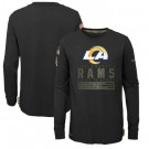 Youth Los Angeles Rams Black 2020 Salute To Service Long Sleeves T Shirt