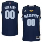 Youth Memphis Grizzlies Customized Navy Swingman Adidas Jersey
