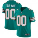 Youth Miami Dolphins Customized Limited Aqua Alternate Vapor Untouchable Jersey