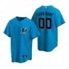 Youth Miami Marlins Customized Blue Alternate 2020 Cool Base Jersey