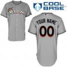 Youth Miami Marlins Customized Gray Cool Base Jersey