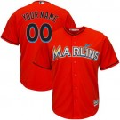 Youth Miami Marlins Customized Orange Cool Base Jersey
