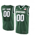 Youth Michigan State Spartans Customized Green College Basketball Jersey