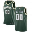 Youth Milwaukee Bucks Customized Green Icon Swingman Nike Jersey
