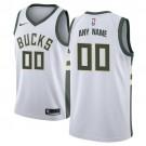 Youth Milwaukee Bucks Customized White Icon Swingman Nike Jersey