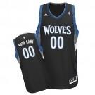 Youth Minnesota Timberwolves Customized Black Swingman Adidas Jersey