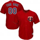 Youth Minnesota Twins Customized Red Cool Base Jersey