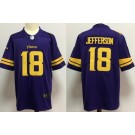 Youth Minnesota Vikings #18 Justin Jefferson Limited Purple Rush Color Jersey