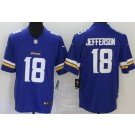 Youth Minnesota Vikings #18 Justin Jefferson Limited Purple Vapor Untouchable Jersey
