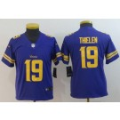 Youth Minnesota Vikings #19 Adam Thielen Limited Purple Rush Jersey