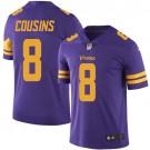 Youth Minnesota Vikings #8 Kirk Cousins Limited Purple Rush Jersey