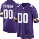 Youth Minnesota Vikings Customized Game Purple Jersey