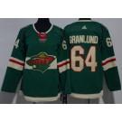 Youth Minnesota Wild #64 Mikael Granlund Green Jersey