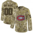 Youth Montreal Canadiens Customized Camo Fashion Authentic Jersey