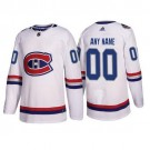 Youth Montreal Canadiens Customized White 2017 NHL 100 Classic Authentic Jersey