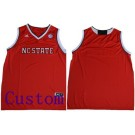 Youth NC State Wolfpack Customized Red College Basketball Jersey