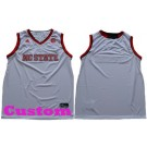 Youth NC State Wolfpack Customized White College Basketball Jersey