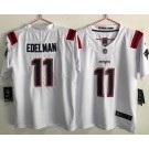 Youth New England Patriots #11 Julian Edelman Limited White 2020 Vapor Untouchable Jersey