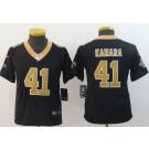 Youth New Orleans Saints #41 Alvin Kamara Limited Black Vapor Untouchable Jersey