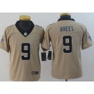 Youth New Orleans Saints #9 Drew Brees Limited Gold Inverted Vapor Untouchable Jersey