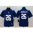 Youth New York Giants #26 Saquon Barkley Limited Blue Vapor Untouchable Jersey