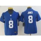 Youth New York Giants #8 Daniel Jones Limited Blue Vapor Untouchable Jersey