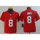 Youth New York Giants #8 Daniel Jones Limited Red Vapor Untouchable Jersey