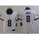 Youth New York Giants #8 Daniel Jones Limited White Rush Color Jersey